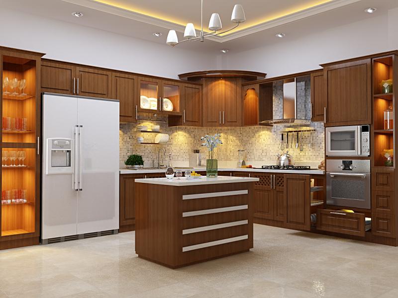 Cách lắp đèn LED chiếu sáng tủ bếp