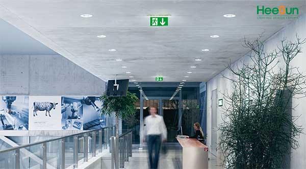 Ứng dụng của đèn LED chỉ dẫn chung 1 mặt HS-EXIT-1M