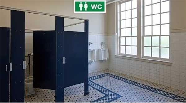 Cách sử dụng đèn chỉ dẫn nhà vệ sinh HS-EXIT-WC