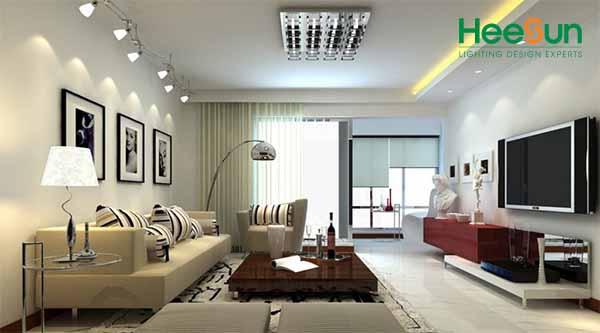 cách chọn đèn led trang trí phòng khách
