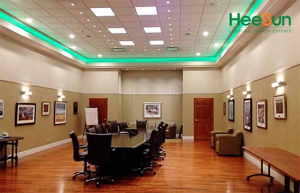 Đèn LED Panel vuông siêu mỏng HS-PMV09 ứng dụng thực tế