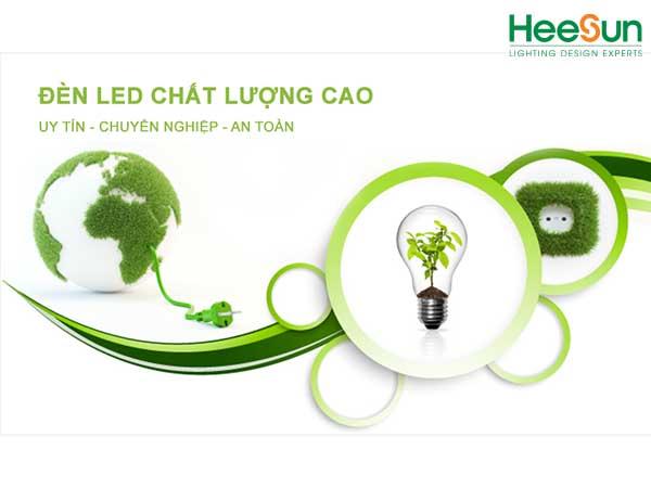 Sử dụng đèn LED trong nội thất an toàn cho sức khỏe, thân thiện với môi trường