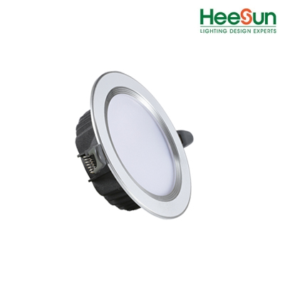 Đèn âm trần HS - DVV09 viền bạc -