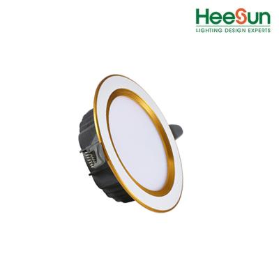 Đèn âm trần HS - DVV09 viền vàng -