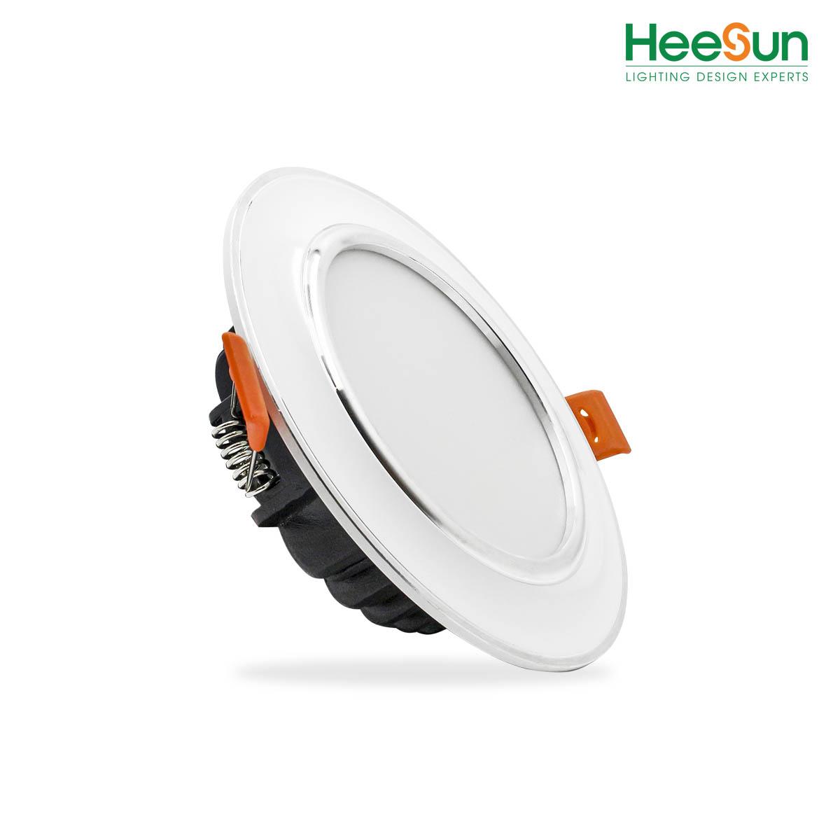 Đèn LED âm trần viền bạc HS-DVB07 - HEESUN VIỆT NAM