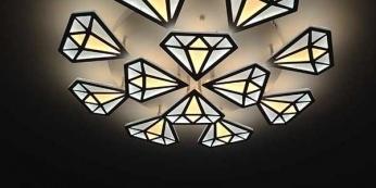 Một số mẫu đèn led ốp trần phòng ngủ đẹp 2019 -
