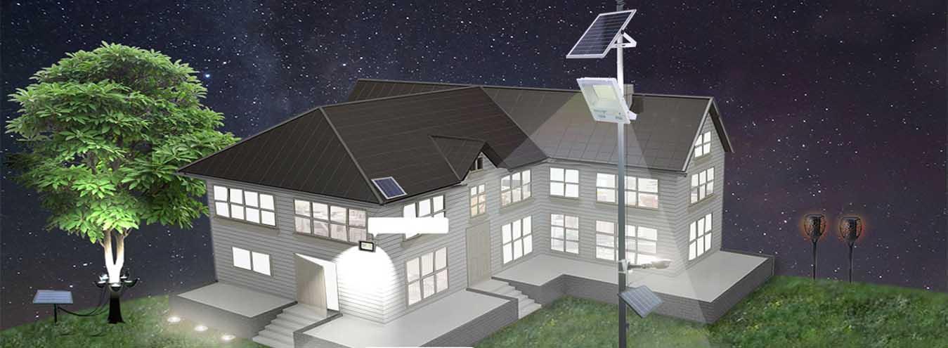 Đèn pha led năng lượng mặt trời cao cấp siêu sáng -