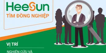Tuyển nhân viên Nghiên cứu và phát triển sản phẩm đèn L - HEESUN VIỆT NAM