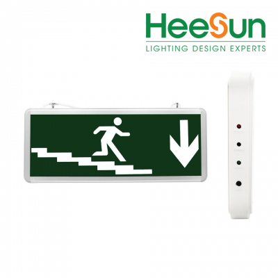 Đèn LED chỉ dẫn đi xuống cầu thang 1 mặt HS-EXIT-CTX - HEESUN VIỆT NAM