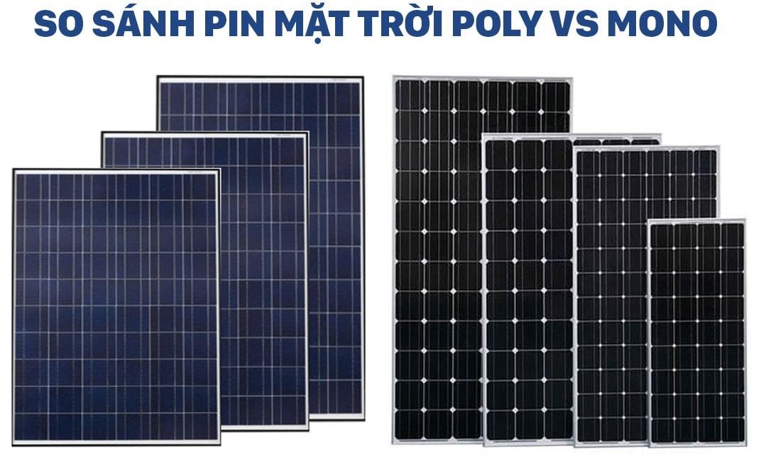 So sánh pin Mono và Poly