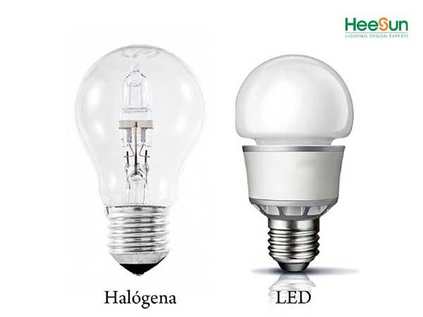 so sánh đèn led và đèn halogen