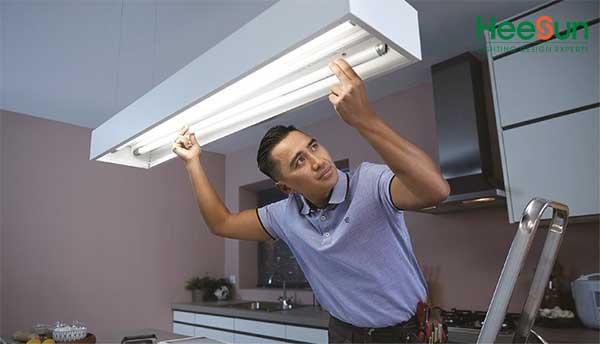Cách lắp đèn led